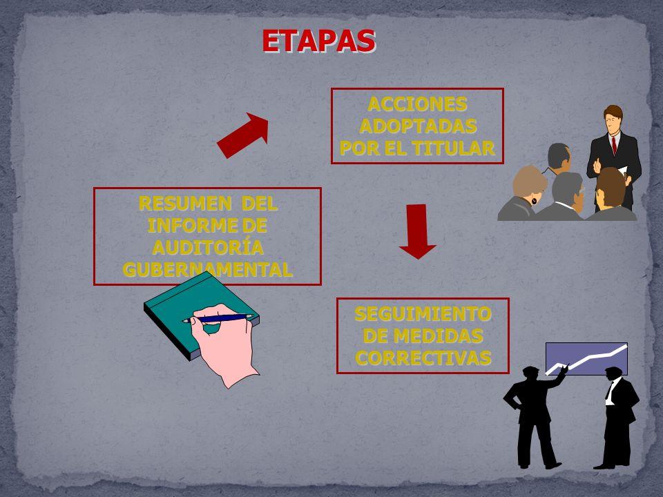 ETAPAS ACCIONES ADOPTADAS POR EL TITULAR