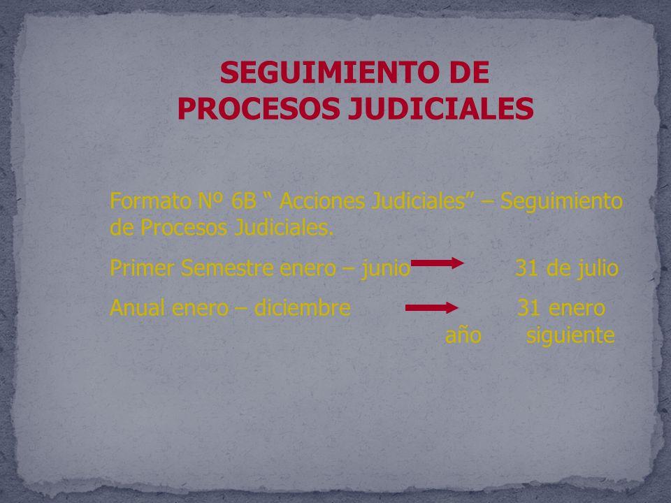 SEGUIMIENTO DE PROCESOS JUDICIALES