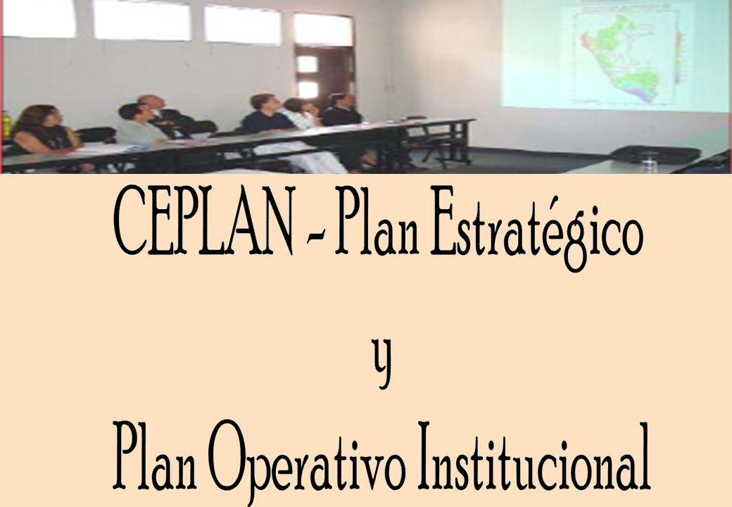 CEPLAN - Plan Estratégico y Plan Operativo Institucional