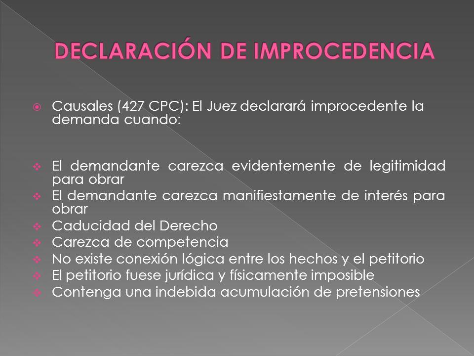 DECLARACIÓN DE IMPROCEDENCIA