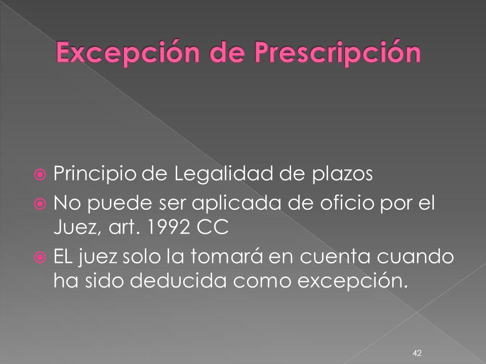 Excepción de Prescripción