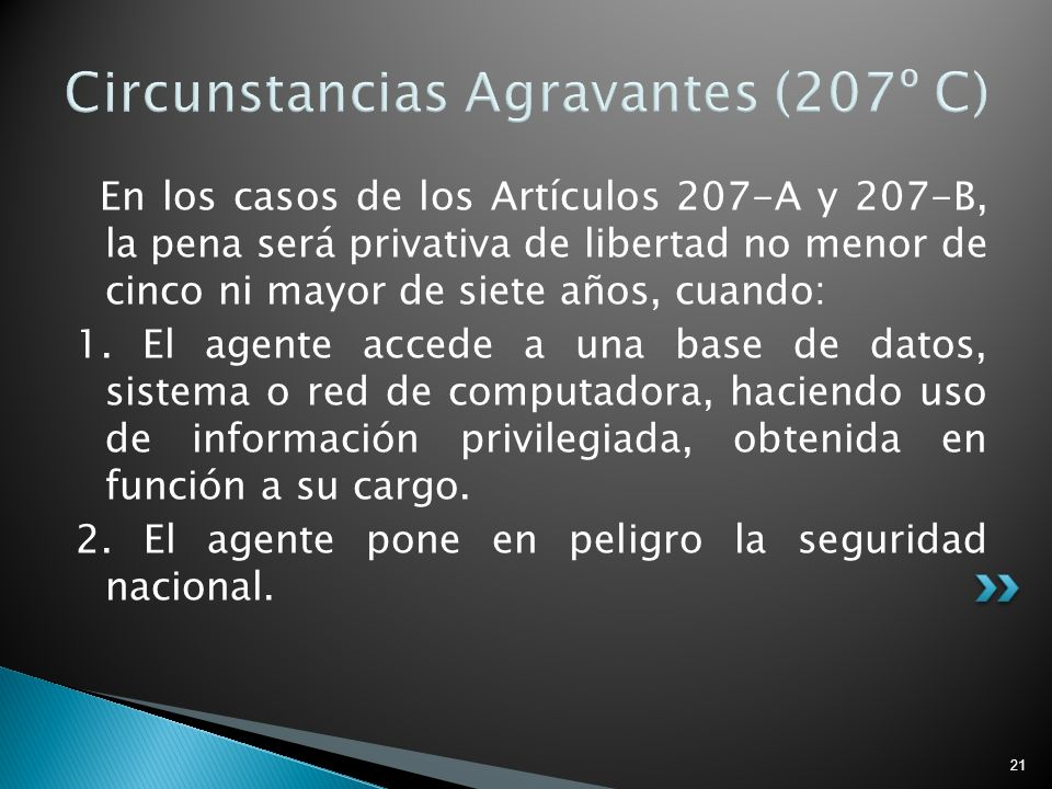 Circunstancias Agravantes (207º C)