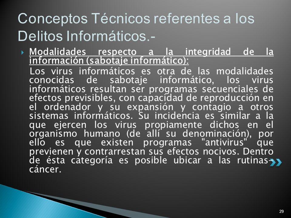 Conceptos Técnicos referentes a los Delitos Informáticos.-