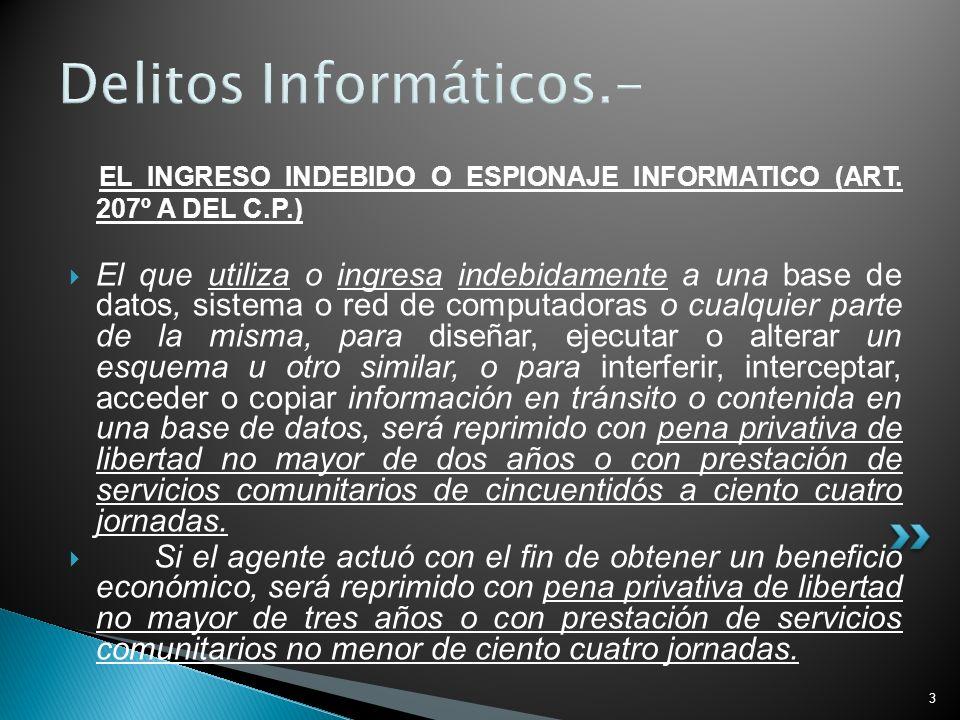 Delitos Informáticos.-