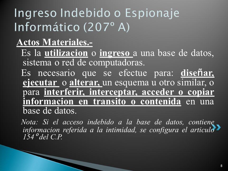 Ingreso Indebido o Espionaje Informático (207º A)