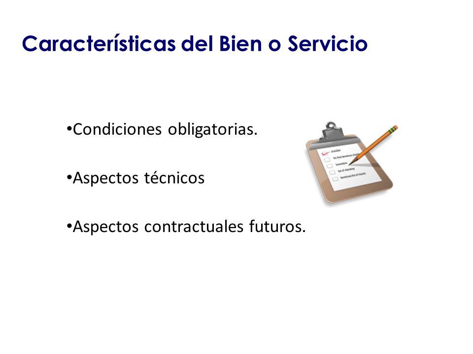 Características del Bien o Servicio