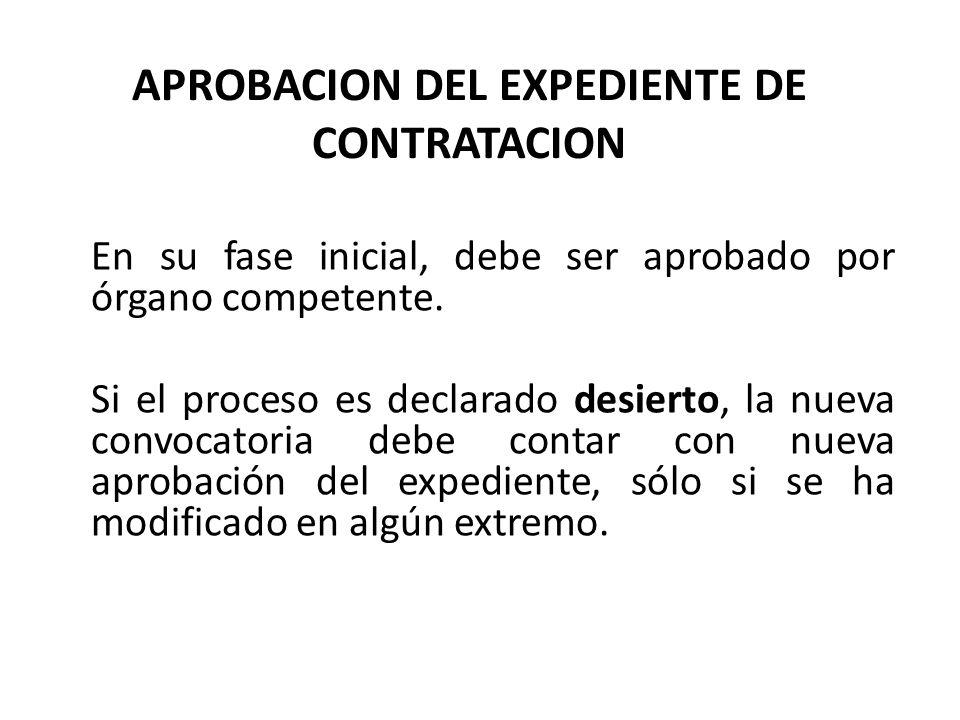APROBACION DEL EXPEDIENTE DE CONTRATACION