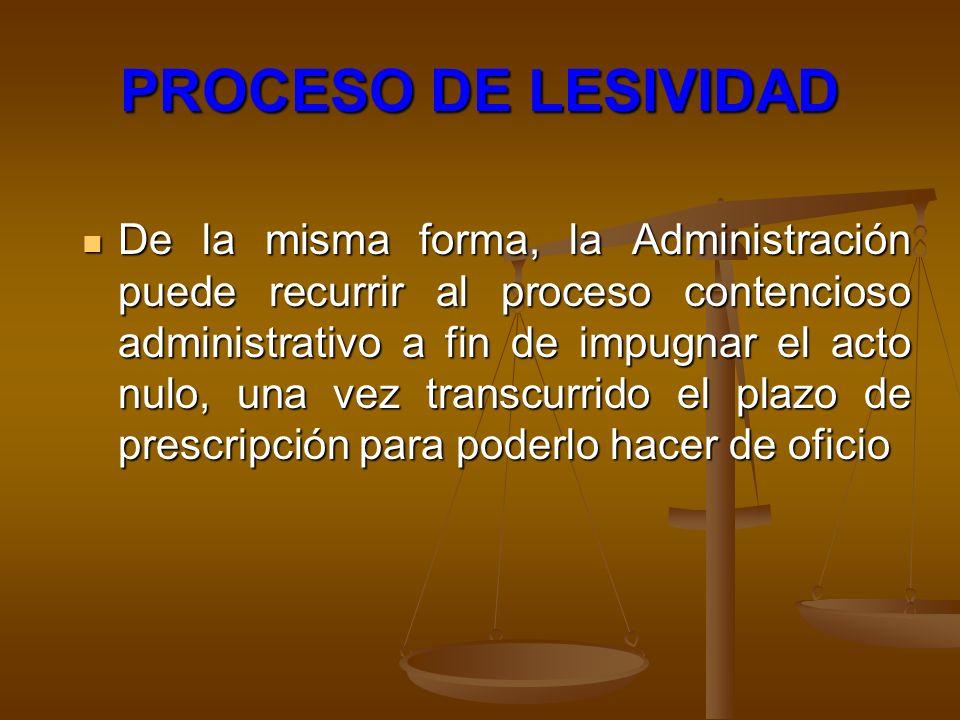 PROCESO DE LESIVIDAD