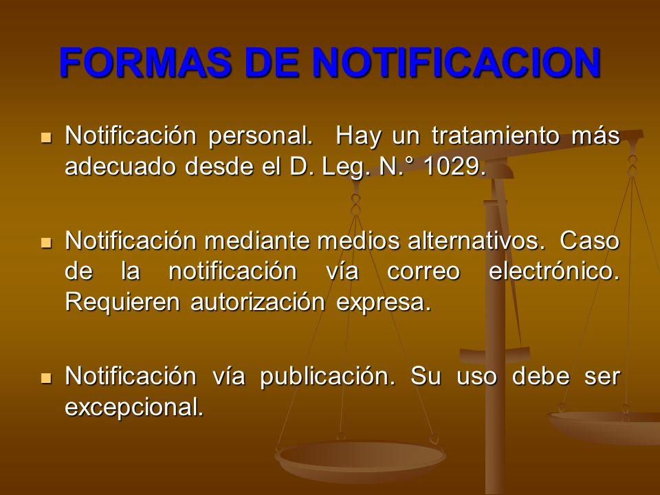 FORMAS DE NOTIFICACION
