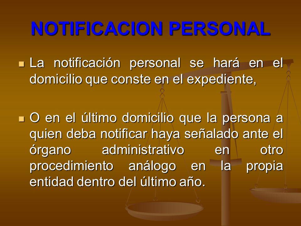 NOTIFICACION PERSONAL