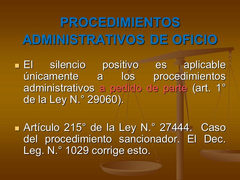 PROCEDIMIENTOS ADMINISTRATIVOS DE OFICIO