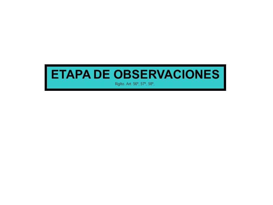 ETAPA DE OBSERVACIONES