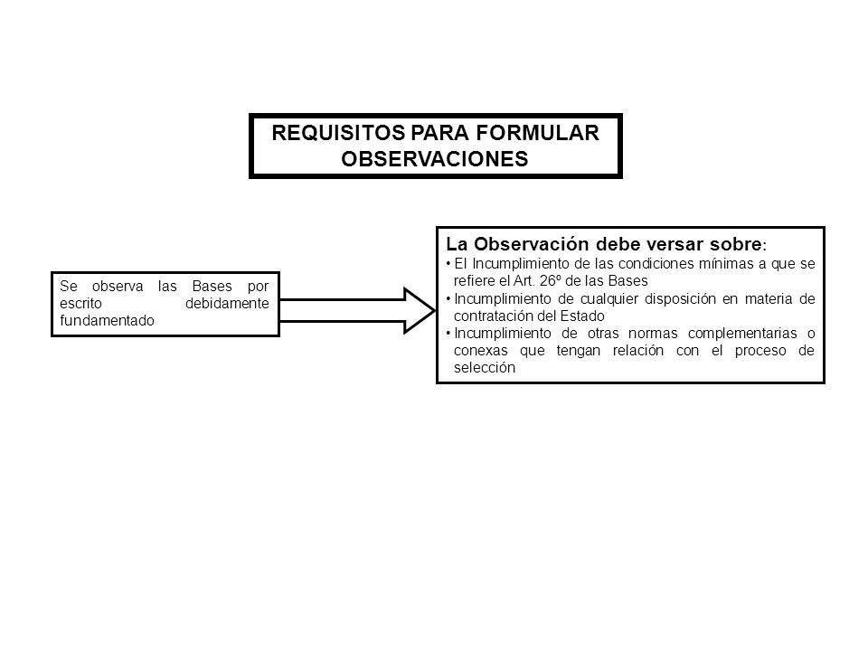 REQUISITOS PARA FORMULAR OBSERVACIONES