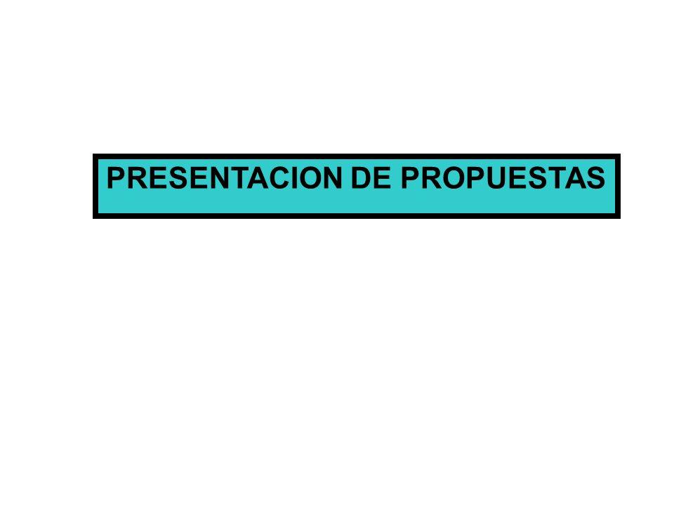 PRESENTACION DE PROPUESTAS