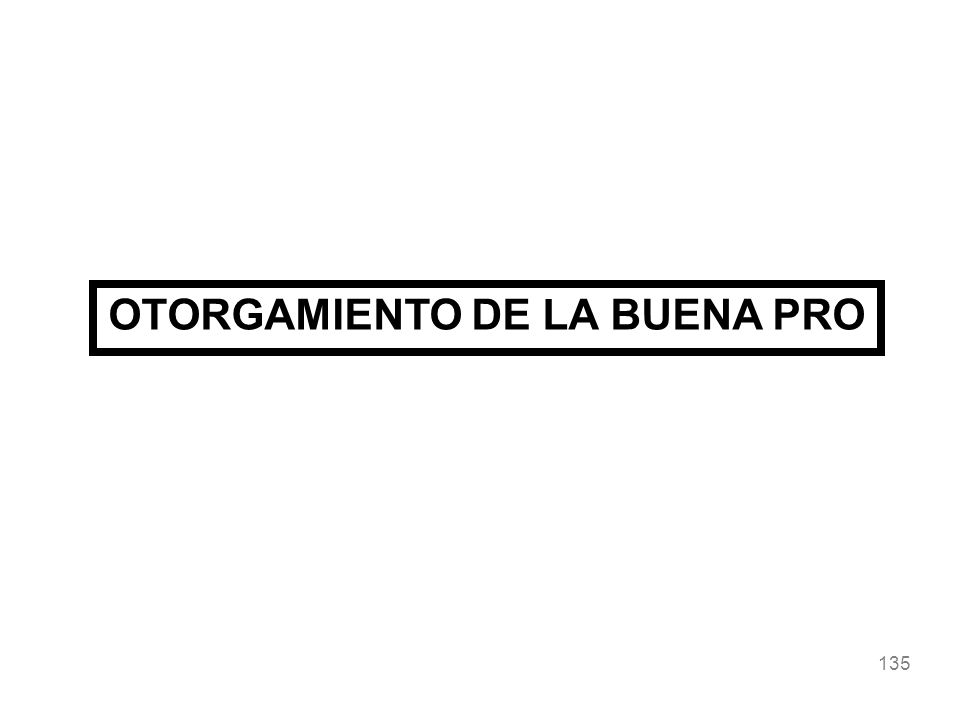 OTORGAMIENTO DE LA BUENA PRO