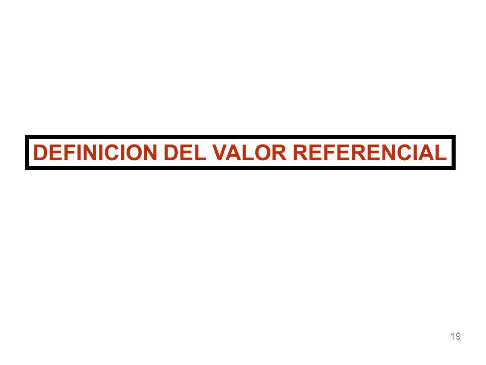 DEFINICION DEL VALOR REFERENCIAL