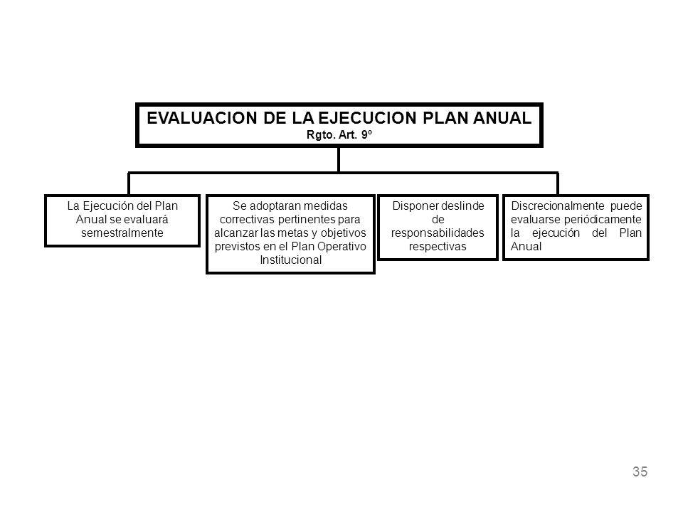 EVALUACION DE LA EJECUCION PLAN ANUAL