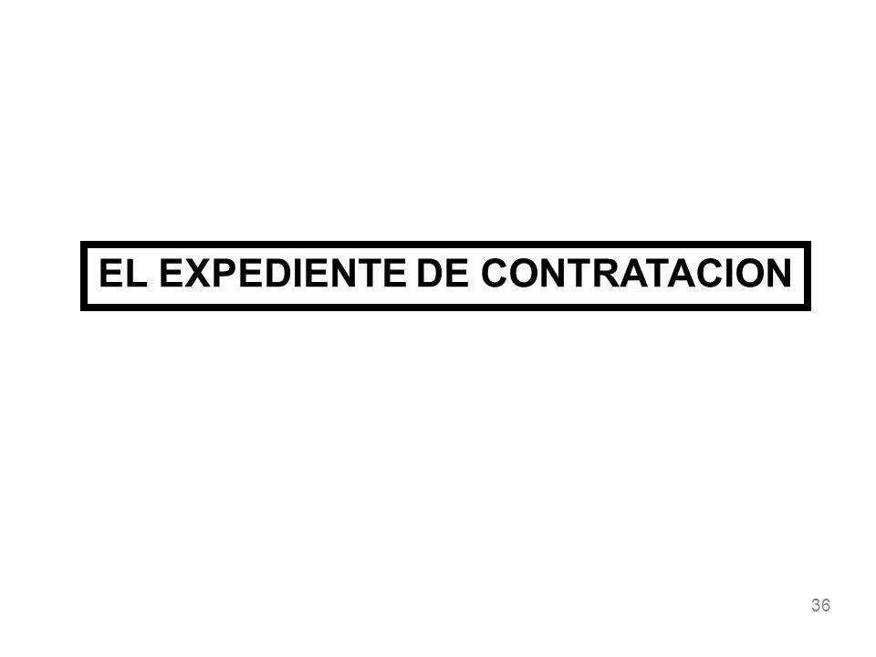 EL EXPEDIENTE DE CONTRATACION