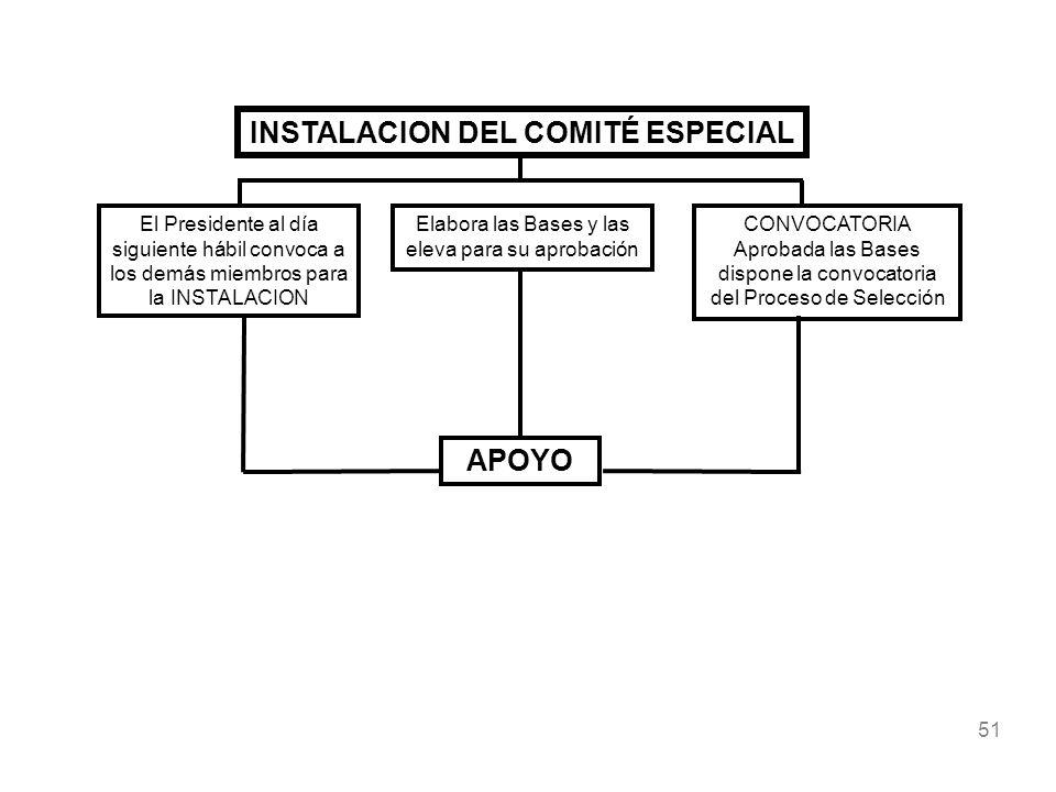 INSTALACION DEL COMITÉ ESPECIAL
