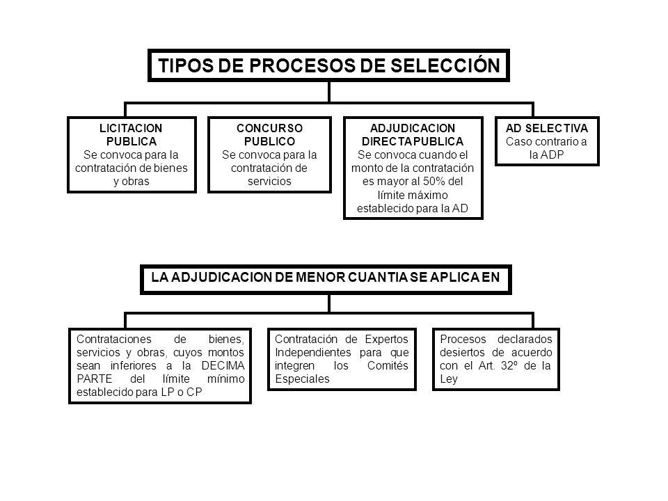 TIPOS DE PROCESOS DE SELECCIÓN