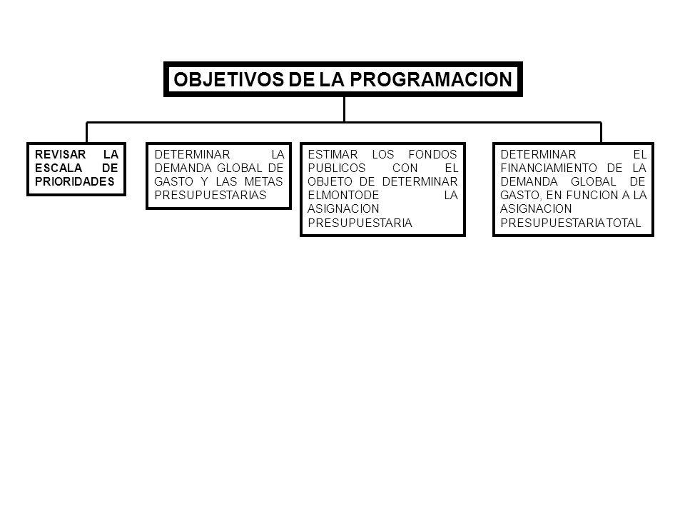 OBJETIVOS DE LA PROGRAMACION