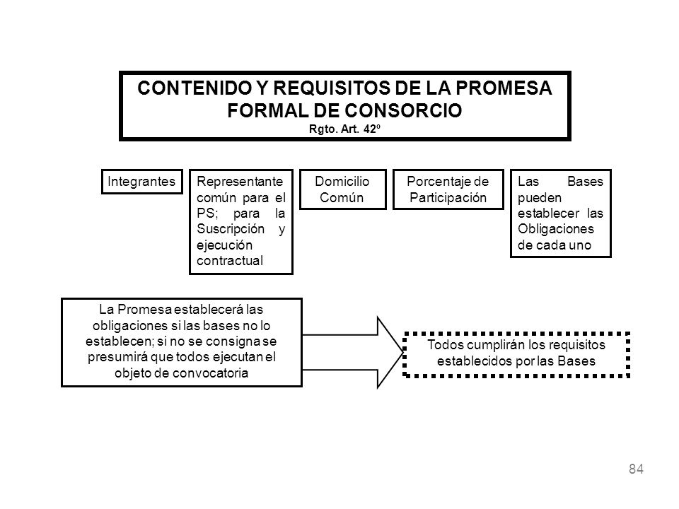 CONTENIDO Y REQUISITOS DE LA PROMESA FORMAL DE CONSORCIO