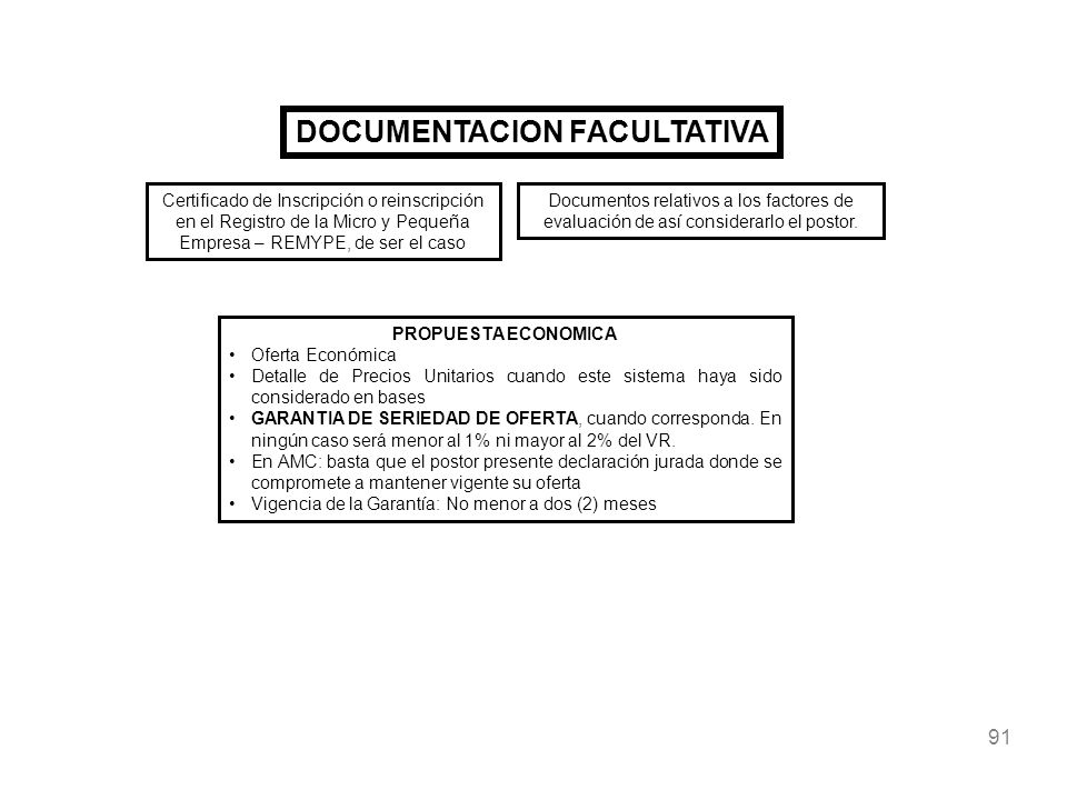 DOCUMENTACION FACULTATIVA