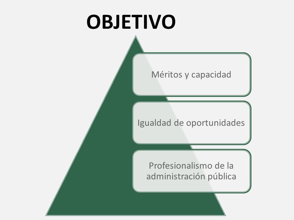 OBJETIVO Profesionalismo de la administración pública