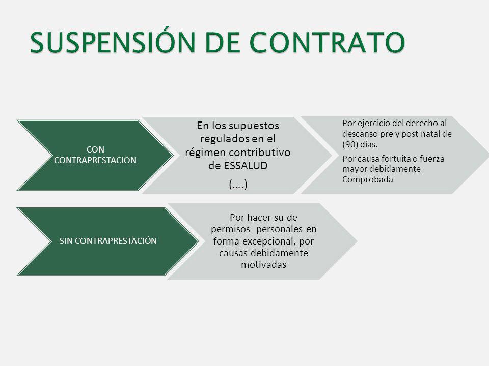 SUSPENSIÓN DE CONTRATO