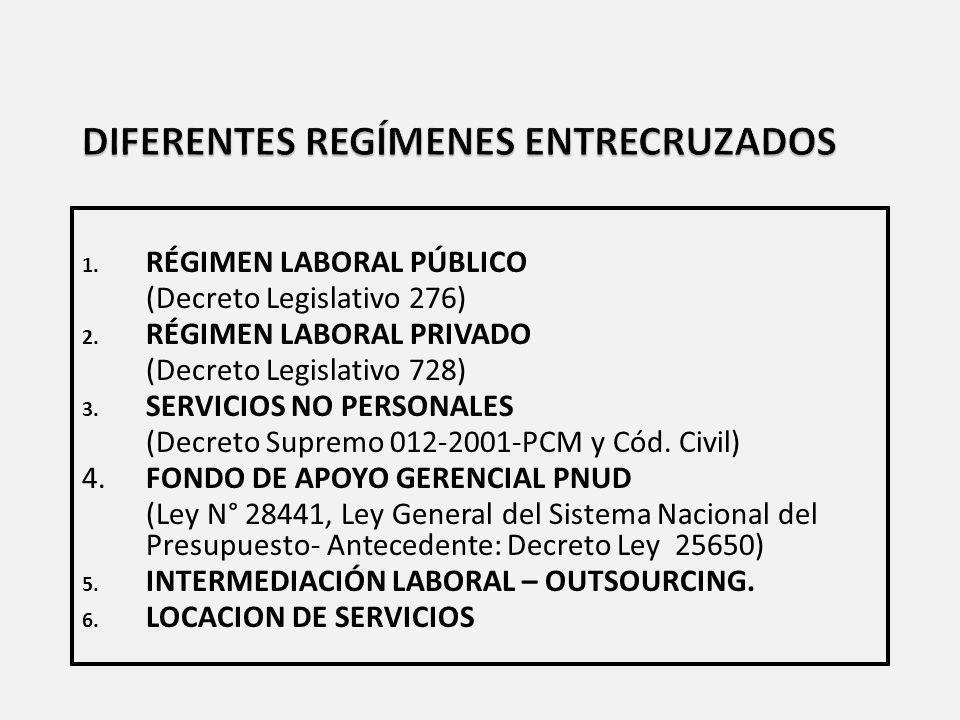 DIFERENTES REGÍMENES ENTRECRUZADOS