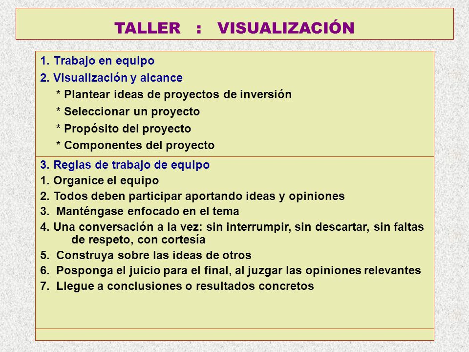 TALLER : VISUALIZACIÓN