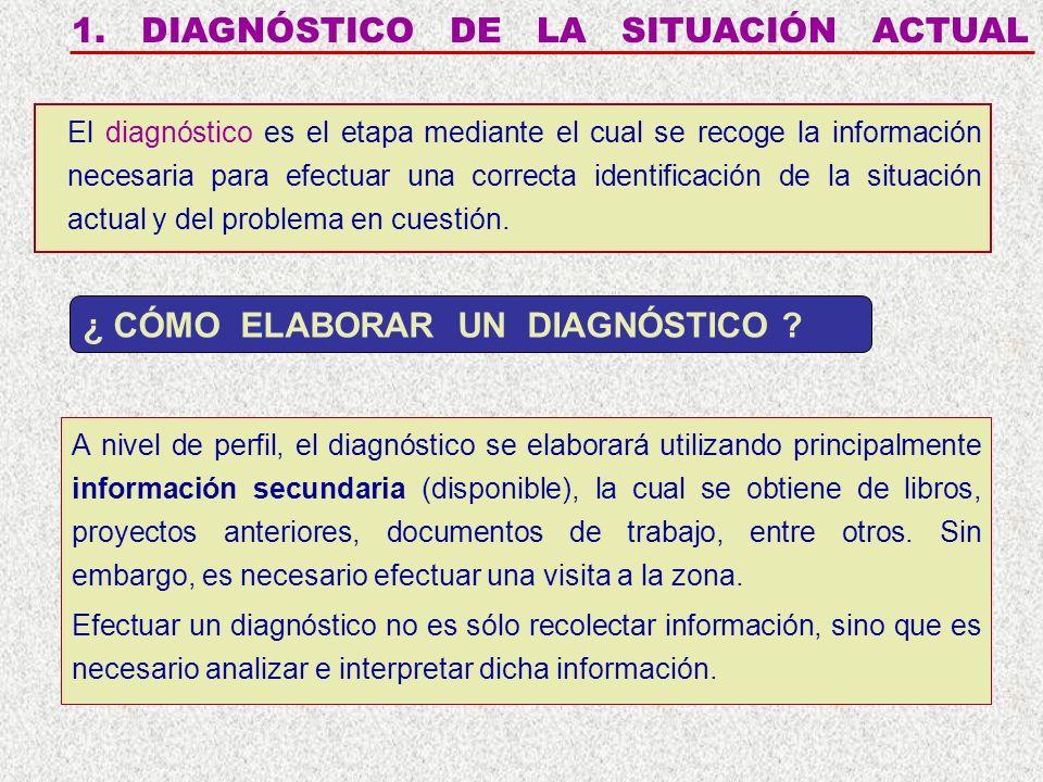 1. DIAGNÓSTICO DE LA SITUACIÓN ACTUAL