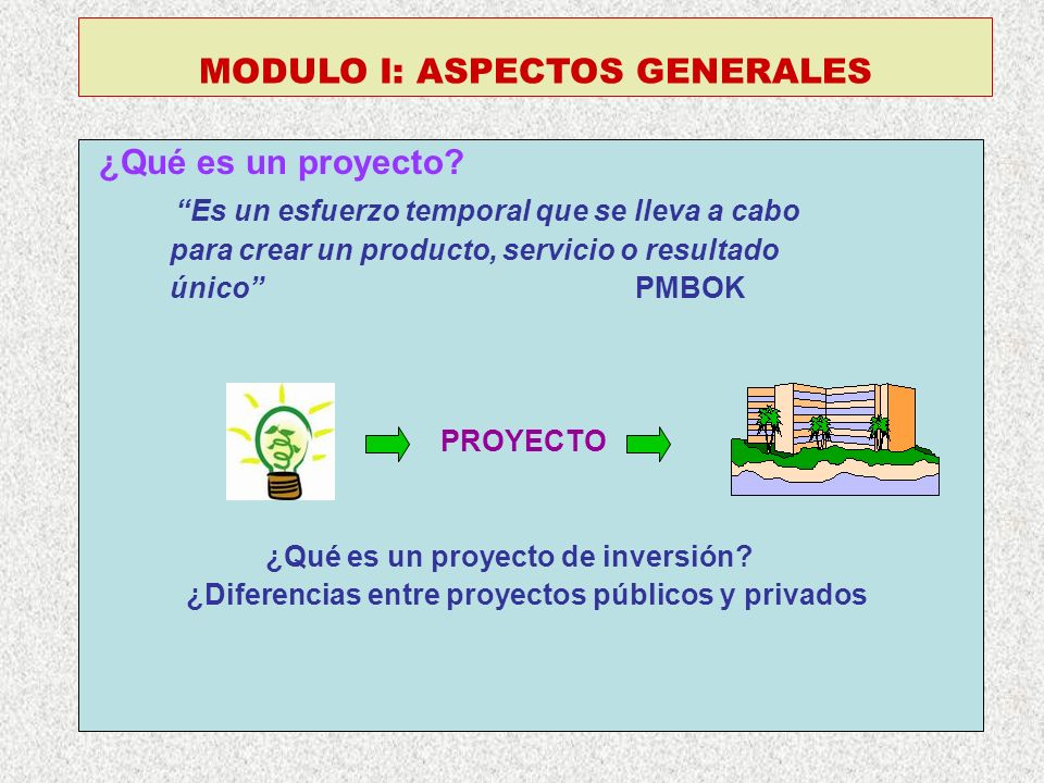 MODULO I: ASPECTOS GENERALES
