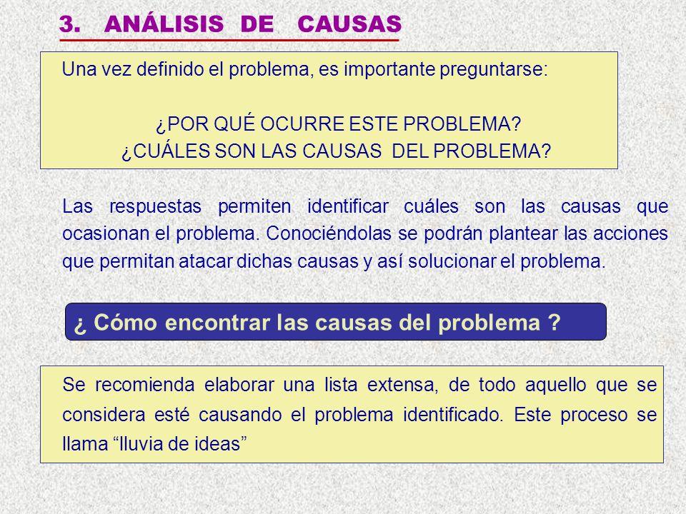 ¿ Cómo encontrar las causas del problema