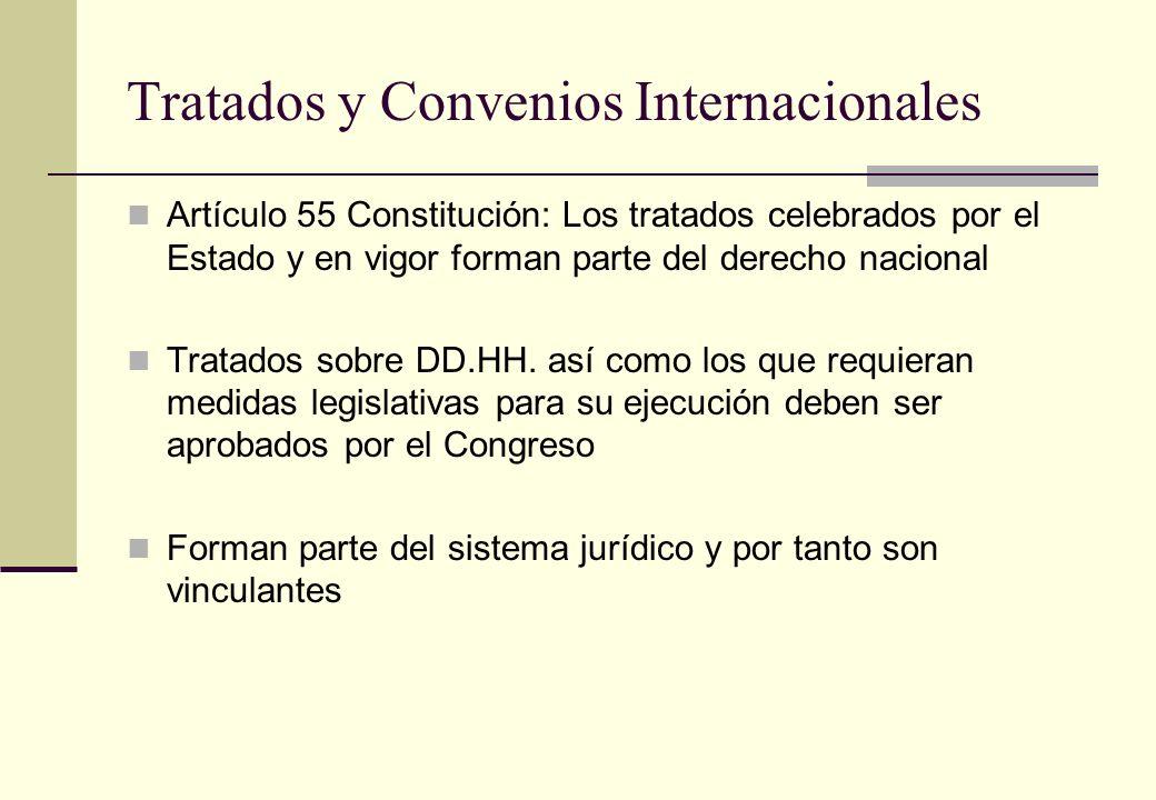 Tratados y Convenios Internacionales