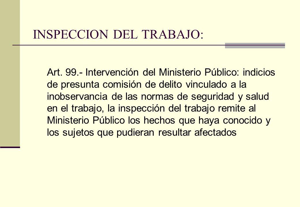 INSPECCION DEL TRABAJO: