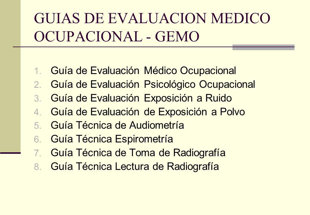 GUIAS DE EVALUACION MEDICO OCUPACIONAL - GEMO
