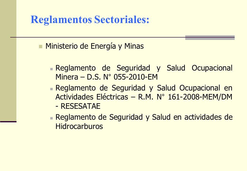 Reglamentos Sectoriales: