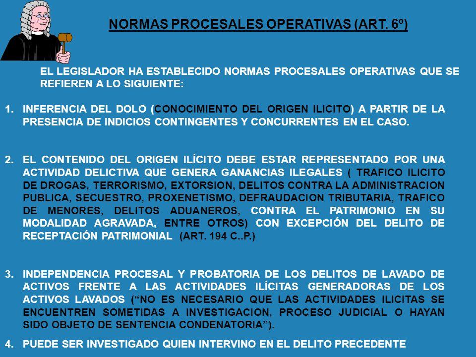 NORMAS PROCESALES OPERATIVAS (ART. 6º)