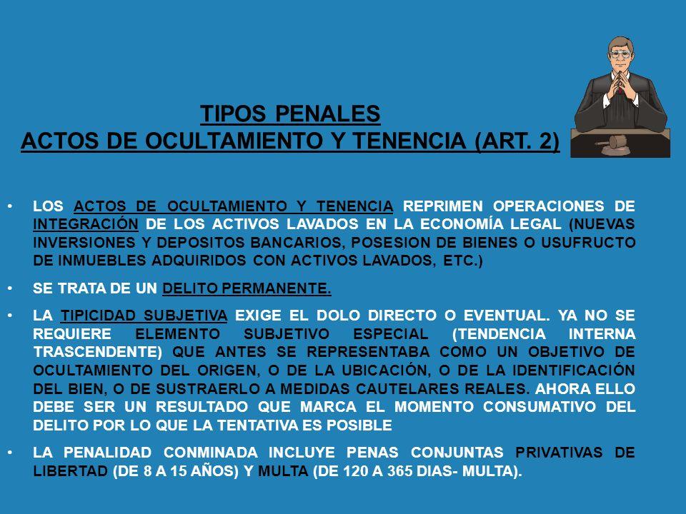 ACTOS DE OCULTAMIENTO Y TENENCIA (ART. 2)