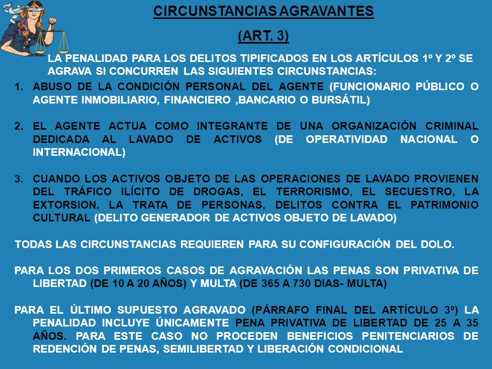 CIRCUNSTANCIAS AGRAVANTES