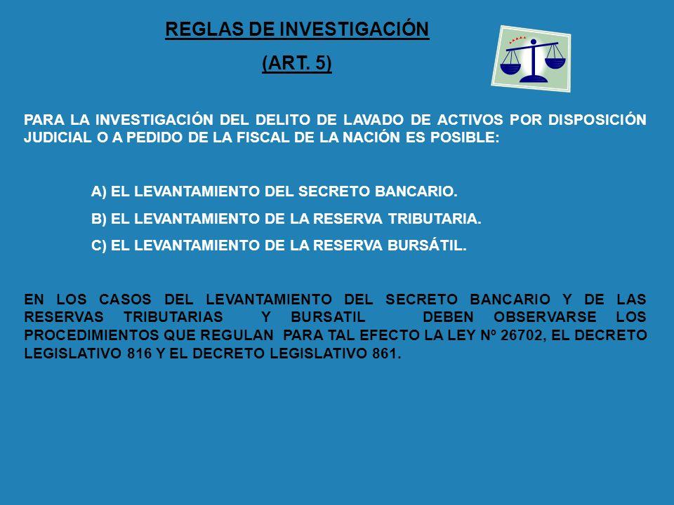 REGLAS DE INVESTIGACIÓN