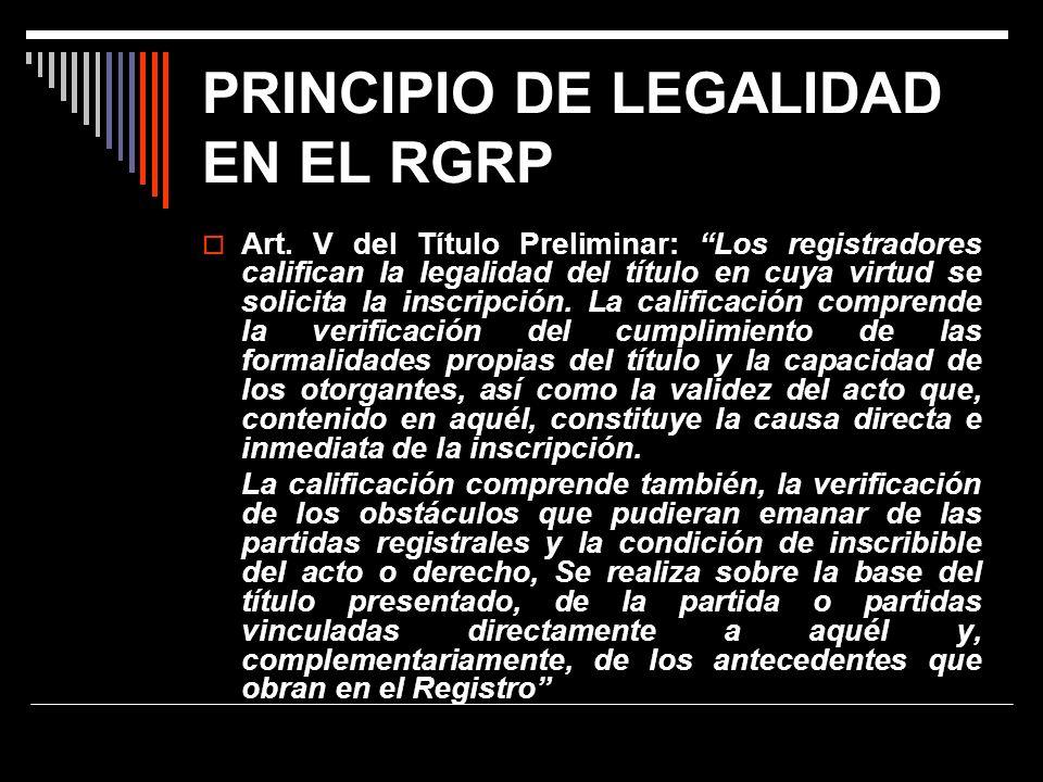 PRINCIPIO DE LEGALIDAD EN EL RGRP