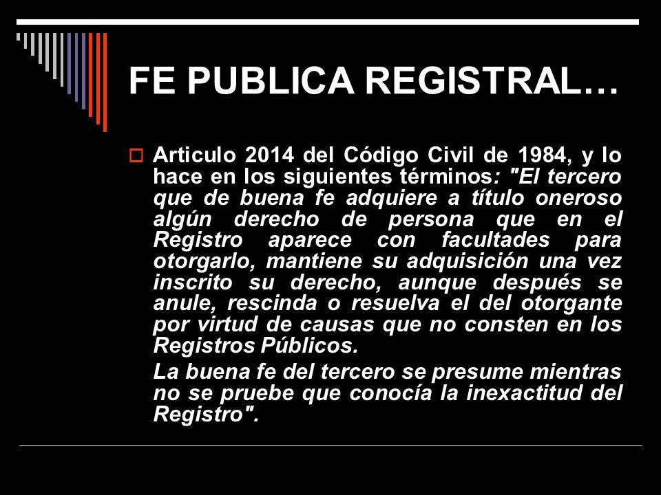 FE PUBLICA REGISTRAL…