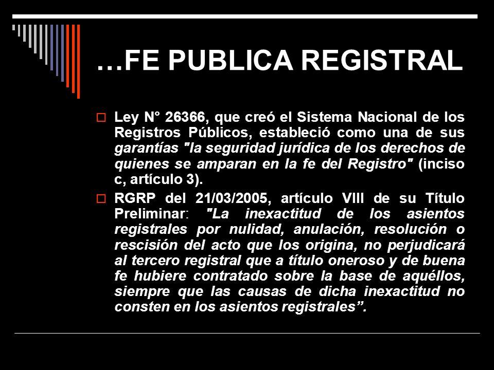 …FE PUBLICA REGISTRAL