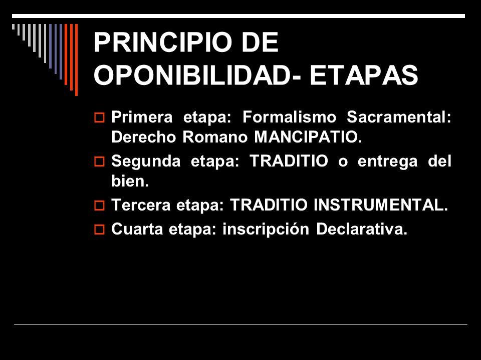 PRINCIPIO DE OPONIBILIDAD- ETAPAS