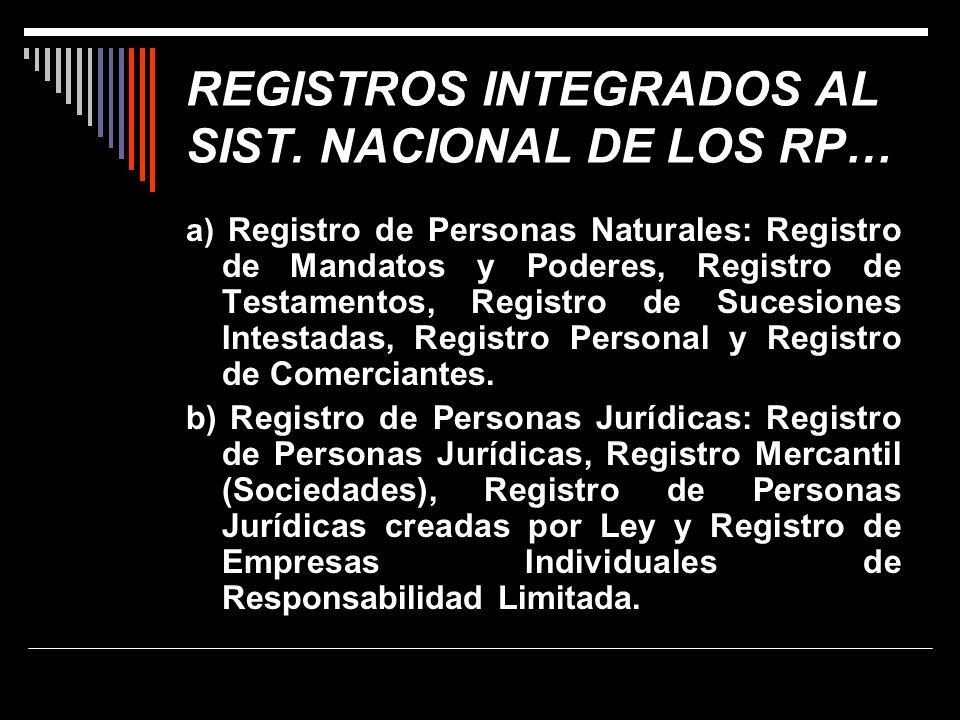 REGISTROS INTEGRADOS AL SIST. NACIONAL DE LOS RP…