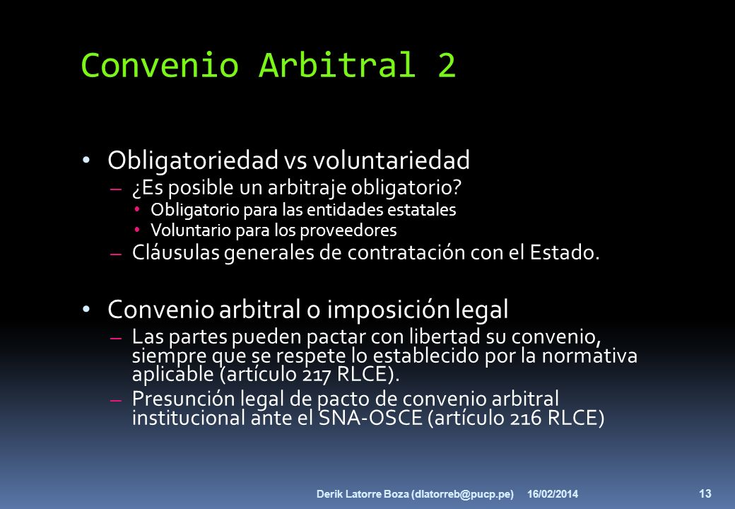 Convenio Arbitral 2 Obligatoriedad vs voluntariedad