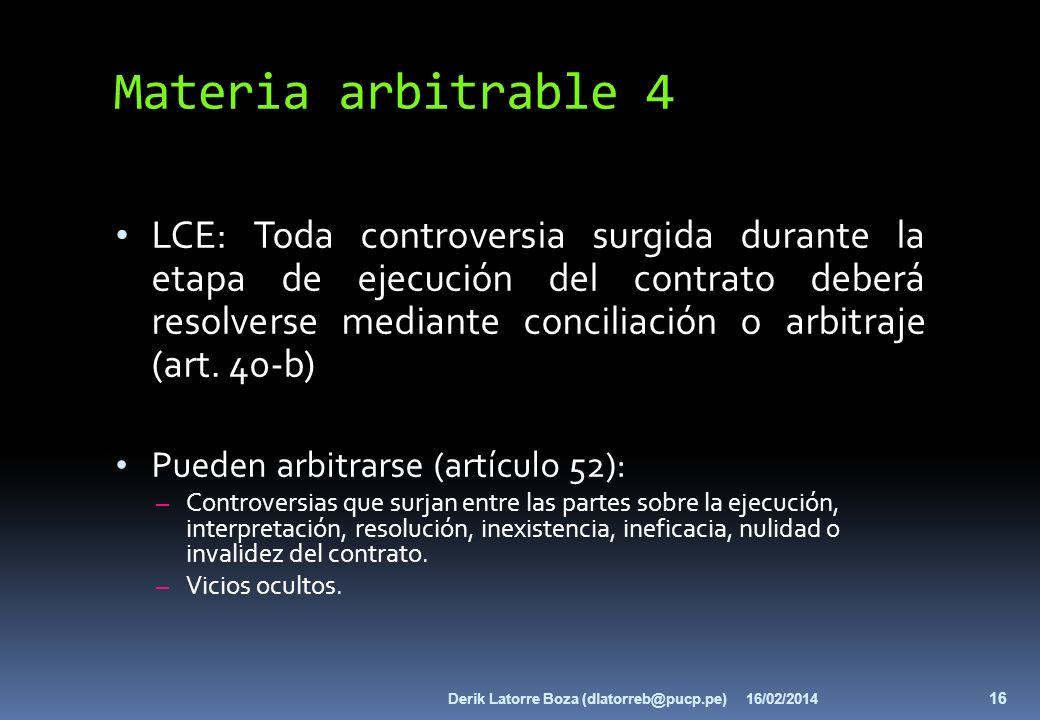 Materia arbitrable 4