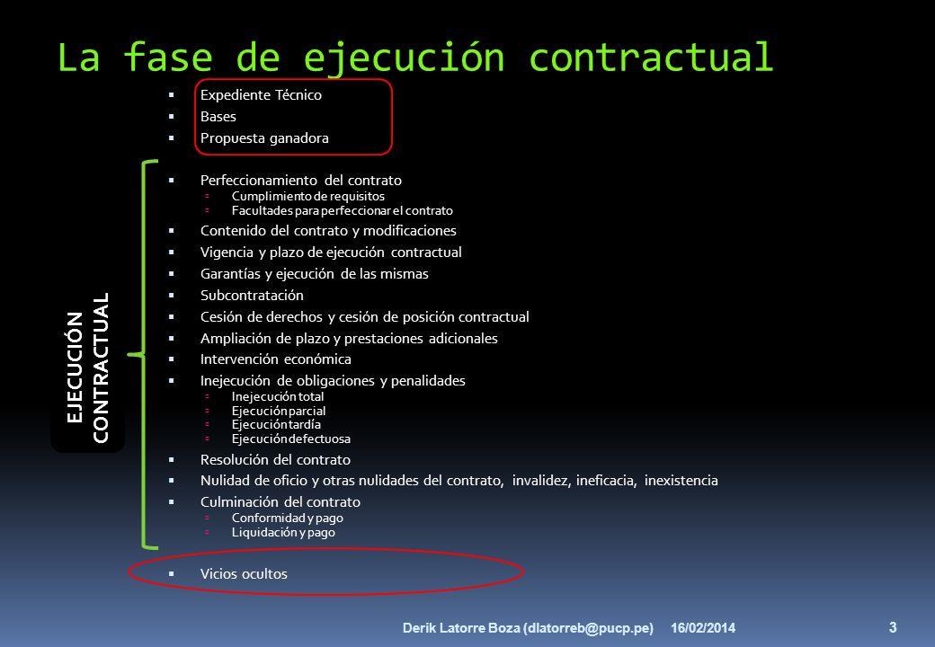 La fase de ejecución contractual